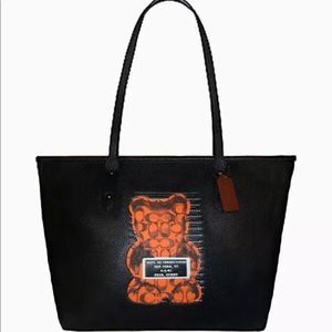 Coach City Zip Tote Bag With Vandal Gummy Bear